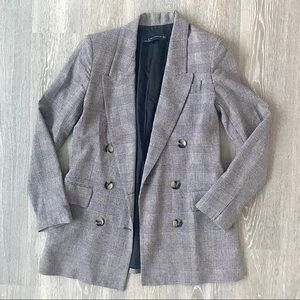 Zara Plaid Menswear Blazer
